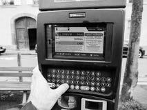 Equipe pagar estacionar na cidade França Strasbourg Imagens de Stock