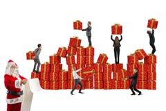 Equipe para presentes do Natal Foto de Stock