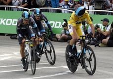 Equipe Team Sky Tour de France 2015 Fotografering för Bildbyråer