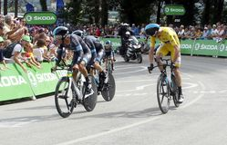 Equipe Team Sky Tour de France 2015 Royaltyfri Foto