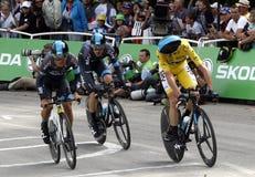 Equipe Team Sky Tour de France 2015 Royaltyfri Bild