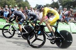 Equipe Team Sky Tour de France 2015 Royaltyfri Fotografi