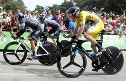 Equipe Team Sky Tour de France 2015 Royaltyfria Foton