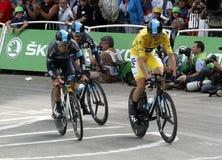 Equipe Team Sky Tour de France 2015 Royaltyfria Bilder