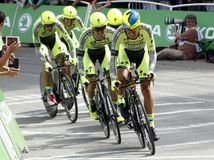 Equipe Tinkoff - Saxo Bank Tour de France 2015 Stock Photos