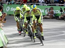 Equipe Tinkoff - Saxo Bank Tour de France 2015 Royalty Free Stock Images