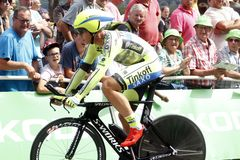 Equipe Tinkoff - Saxo Bank Tour de France 2015 Royalty Free Stock Photography