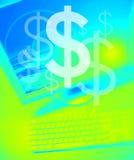 A equipe trabalha o dólar Imagens de Stock Royalty Free