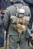 Equipe a un soldado alemán Foto de archivo