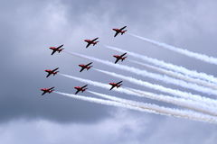 Equipe vermelha da exposição de ar das setas Imagem de Stock