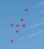 Equipe vermelha do indicador das setas Fotos de Stock Royalty Free