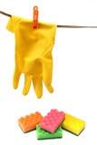 Equipement domestico di pulizia Fotografie Stock Libere da Diritti