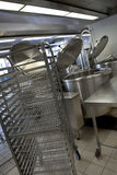 Equipement in a kitchen. Professional kitchen in a canteen for an hospital Stock Photography