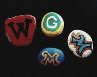 Equipes de esporte de Wisconsin foto de stock