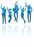 Equipes de funcionários de salto Imagens de Stock