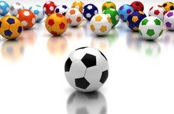 Equipes de futebol Fotos de Stock Royalty Free