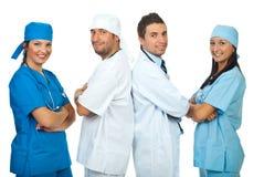 Equipes felizes dos doutores Fotografia de Stock Royalty Free