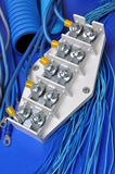 Equipment and accessories for electrical installations Royalty Free Stock Image