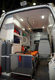 Equipment for ambulances. View from inside. Royalty Free Stock Photo