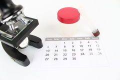 Equipment for analysis on the daily schedule Royalty Free Stock Photography
