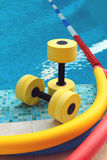 Equipment for Aqua Aerobics Stock Photo