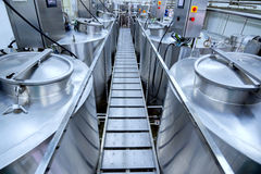 Equipment At Dairy Plant Royalty Free Stock Photo