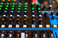 Equipment of audio recording studio Stock Photo