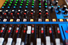 Equipment of audio recording studio Royalty Free Stock Image