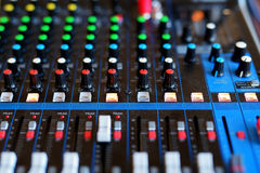 Equipment of audio recording studio Royalty Free Stock Photos