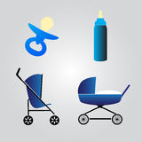 Equipment for baby eps10 Royalty Free Stock Image