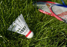 Equipment for badminton Royalty Free Stock Photos