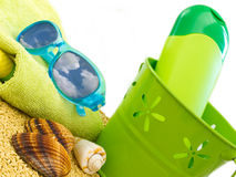 Equipment for beach Stock Photography