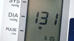 Equipment for blood pressure testing stock footage