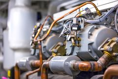 Equipment in the boiler room. royalty free stock images