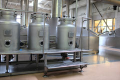 Equipment of brewery Royalty Free Stock Photography