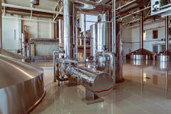 Equipment for brewing beer. Royalty Free Stock Images