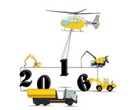Equipment Builds Calendar for 2016. Vector. Illustration. EPS10 Stock Photos