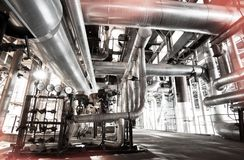 Free Equipment, Cables And Piping As Found Inside Of A Modern Industrial Power Plant Stock Images - 109459324