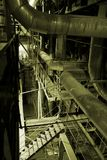 Equipment, cables and piping. As found inside of a modern industrial power plant Stock Photo