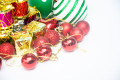 Equipment for celebration of Christmas festival happy new year Stock Images