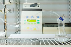 Equipment of chemical-biological laboratory Stock Image