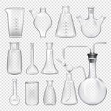 Equipment for chemical laboratory. Different vials vector illustration