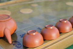 Equipment for Chines tea ceremony. Stock Images