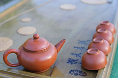 Equipment for Chines tea ceremony. Stock Image