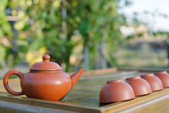 Equipment for Chines tea ceremony. Royalty Free Stock Photos
