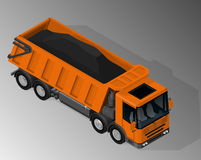 Equipment for the construction industry. Vector isometric illustration of dump truck. Equipment for the construction industry stock illustration