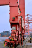 Equipment of container yard, Xiamen port, China Royalty Free Stock Images