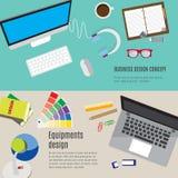 Equipment design workspace. Stock Images