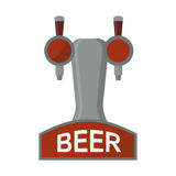 Equipment for dispensing beer isolated vector illustration. Alcohol column tower icon flat design. Equipment for dispensing beer isolated vector illustration Royalty Free Stock Photo