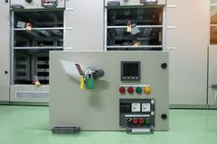 Equipment of electrical switchgear panel take off for maintenanc Stock Photography